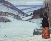 Mikhail NESTEROV. Winter at a Hermit's Retreat. 1904
