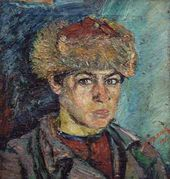 David BURLYUK. Portrait of a Young Bashkir. 1917