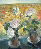 Alexander TYULKIN. Hydrangeas. 1920