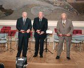Ceremonial opening. Viktor Vekselberg, Mikhail Shvydkoy and Valentin Rodionov