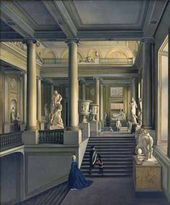 Ivan IVANOV. The Main Staircase in the Academy of Fine Arts. 1830
