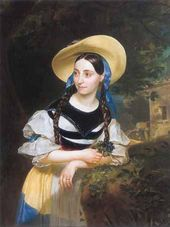 Karl BRIULLOV. Portrait of Italian Singer Fanny Persiani. 1834