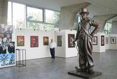The Zurab Tsereteli exhibition at the Joan Miro Hall at UNESCO Headquarters