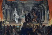 Alexander BENOIS. Italian Comedy. Love Note. 1905
