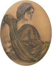 Valentin SEROV. Portrait of Henrietta Girshman. 1911