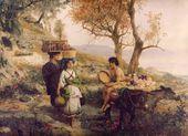 Genrikh SEMIRADSKY. Morning. To the Market. 1890s