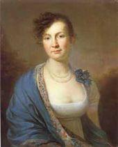Alexander MOLINARI. A Portrait of Countess Natalia Alexandrovna Zubova. 1800-s