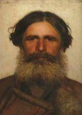 Ivan KRAMSKOY. Head of a Peasant. 1868