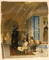 Jean-Leon JEROME. Pool in a Harem. 1876