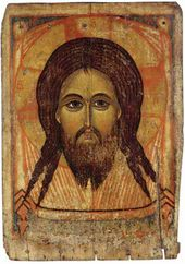 Icon: The Saviour Not-Made-by-Human-Hands, Yaroslavl, 14th century