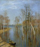 Isaac LEVITAN. Spring. High Water. 1897