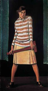 Nikolai ZAGREKOV. The Girl with a T-square. 1929 (?)