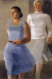 Vladimir ODINTSOV. Two Girls. 1933
