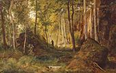 Landscape with Hunter. The Island of Valaam. 1867
