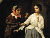 Temptation. 1857. Detail