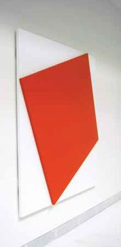 Ellsworth KELLY (USA). Red Relief with White. 2007