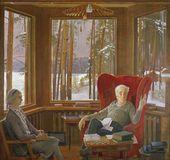 Portrait of Anna Alexeyevna and Pyotr Leonidovich Kapitsa. 1979