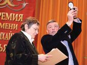 Olga Allenova, laureate of the Pavel Tretyakov Prize, and Viktor Bekhtiev