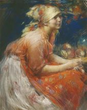 Abram ARKHIPOV. Peasant Girl. 1915