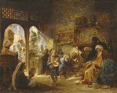 Konstantin MAKOVSKY. In a Cairo coffeehouse. Circa 1876