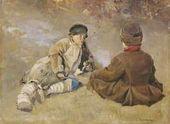 Sergei VINOGRADOV. Peasant boys. 1896