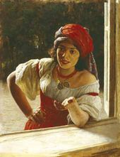 Nikolai YAROSHENKO. Gypsy woman. 1886