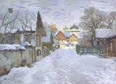 Konstantin GORBATOV. Winter evening. Pskov. 1910