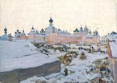 Konstantin YUON. Spring evening. Rostov the Great. 1906