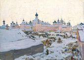 Konstantin YUON. Spring evening. Rostov the Great. 1906