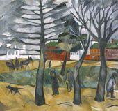 Natalya GONCHAROVA. Autumn landscape. 1909–1910