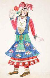 Natalya GONCHAROVA. Indian Dancer. 1914