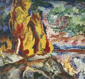 David BURLIUK. Noon at the River Dnieper. 1910
