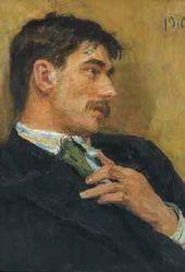 Ilya REPIN. Portrait of Kornei Chukovsky. 1910