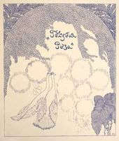 "Title page of the ""Blue Rose"" publication (Pyotr Utkin's sketch). The ""Golden Fleece"" magazine, 1907, # 5"