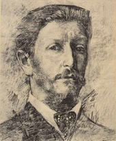 Mikhail VRUBEL. Self-portrait. 1904–1905