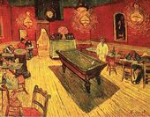 Vincent VAN GOGH. Café de Nuit (The Night Café). 1888