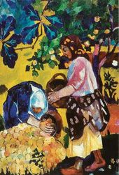 Natalya GONCHAROVA. Harvesting Apples