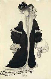 Sketch of a dress for Lyubov Bakst. 1903