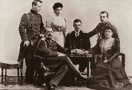 Family of Grand Duke Vladimir Alexandrovich and Maria Pavlovna on their silver wedding day