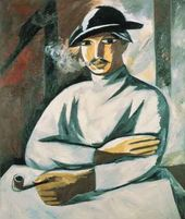 Natalia GONCHAROVA. A Smoking Man. 1911