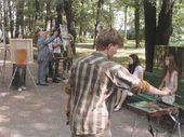 Students of the Academy at plein-air practice in St. Petersburg