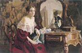 D.V. GOLENEV, a fourth-year student. Woman's Portrait in Interior. 2001