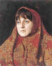 S.N. TROSHIN, a second-year student. Woman's Portrait in Costume. 2004