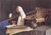 I.A. ROZHKOV, a first-year student. Still-life with the Attributes of the Arts. 2001
