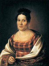 Mikhail VASSILIEV. Portrait of M.D. Basnina. 1824