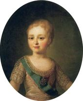 Fyodor ROKOTOV. Portrait of the Grand Duke Alexander Pavlovich as a Child. Early 1780s