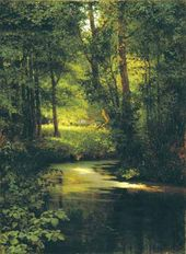 Grigory MYASOEDOV. Springtime (Brook in a Forest). 1890