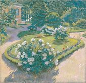 Sergei VINOGRADOV. Garden (Peonies in Bloom). 1910