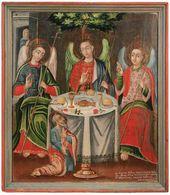 Vasil MARKIYANOVICH. The Trinity (Abraham's Hospitality). 1761. Slutsk