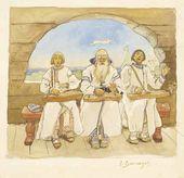 Gusli Players. 1895. Study